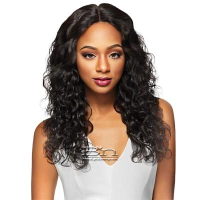 Outre Simply 100% Non-processed Brazilian Virgin Remy Human Hair Swiss Lace Front Wig - BRAZILIAN NATURAL BODY (4x4 Swiss Lace Hand Tied)