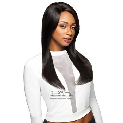 Outre Simply 100% Non-processed Brazilian Virgin Remy Human Hair Swiss Lace Front Wig - BRAZILIAN NATURAL STRAIGHT (4x4 Swiss Lace Hand Tied)
