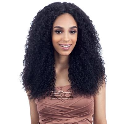 100% Unprocessed Brazilian Virgin Remy Hair - NAKED NATURE WET & WAVY BEACH CURL 7PCS (14/14/16/16/18/18 + Silk Base Closure)