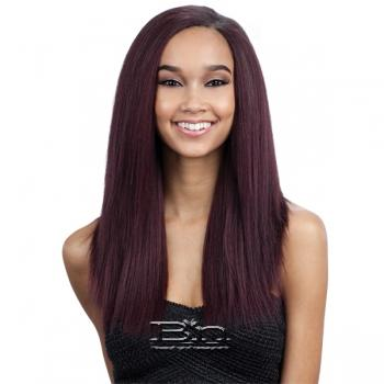Milky Way Que Human Hair Blend Weave - MALAYSIAN IRONED TEXTURE STRAIGHT 7PCS (12/12/13/13/14/14 + closure)