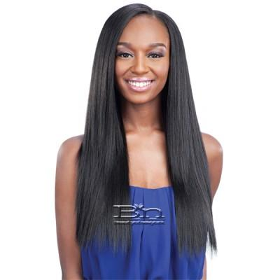 Milky Way Que Human Hair Blend Weave - MALAYSIAN SILK PRESS YAKY 7PCS (14/14/16/16/18/18 + closure)