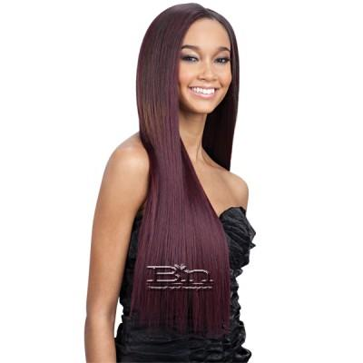 Milky Way Que Human Hair Blend Weave - MALAYSIAN SILK PRESS YAKY 7PCS (18/18/20/20/22/22 + closure)