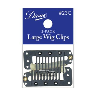 Diane #23C Large Wig Clips Black 2-Pack