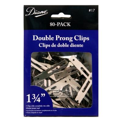 Diane #17 Double Prong Clips 1-3/4 80 Pack