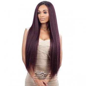 Milky Way Que Human Hair Blend Weave - MALAYSIAN IRONED TEXTURE STRAIGHT 7PCS (22/22/24/24/26/26 + closure)
