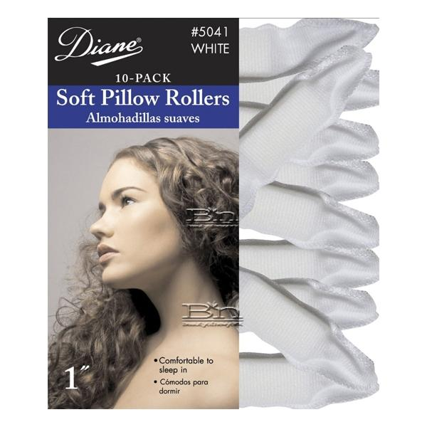 """Diane #5041 Soft Pillow Rollers White 1"""" 10-pk"""