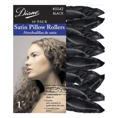 Diane #5042 Satin Pillow Rollers Black 1