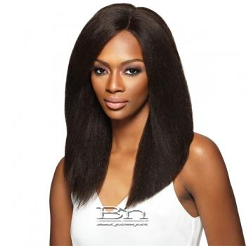 Outre Simply 100% Non-processed Brazilian Virgin Remy Human Hair Swiss Lace Front Wig - BRAZILIAN NATURAL BLOW OUT STRAIGHT (4x4 Swiss Lace Hand Tied)