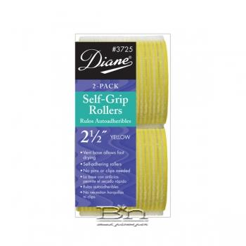 "Diane #3725 Self-Grip Roller 2-1/2"" Yellow 2PK"