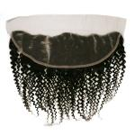 WIGO Collection 100% Brazilian Remy 13x4 3-Way Parting Swiss Lace Frontal - CURLY 14