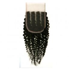 WIGO Collection 100% Brazilian Remy 4x4 3-Way Parting Swiss Full Lace Closure – CURLY 14