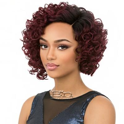It's a wig Synthetic Wig - AWESOME (Real Hair Line Part)