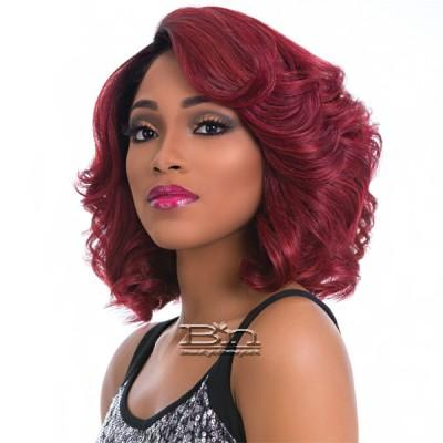 Sensationnel Empress Natural Curved Part Lace Front Wig - CHERRY