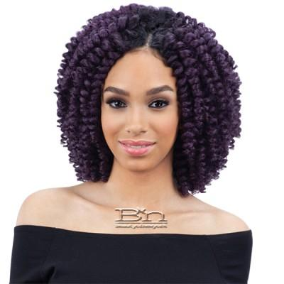 Milky Way Que Human Hair Blend Wand Curl Weave - SWIRLY WAND CURL