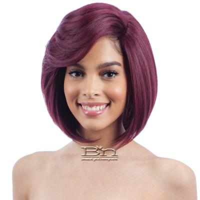Model Model Synthetic Hair Lace Deep Invisible L Part Lace Front Wig - BRIGHT MEADOW