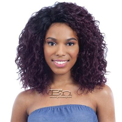 Model Model Synthetic Hair Deep Invisible L Part Wig - JANA