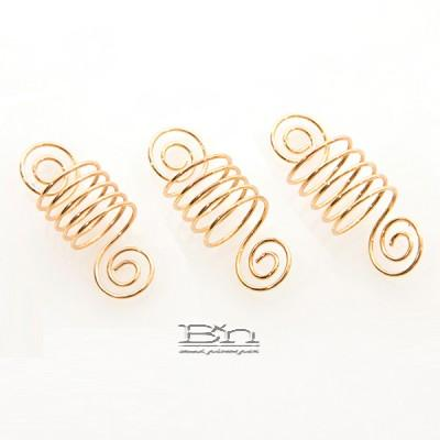 WIGO Collection Hair Accessories Braid Ring - SPIRAL 3PCS (CTG1 - GOLD)