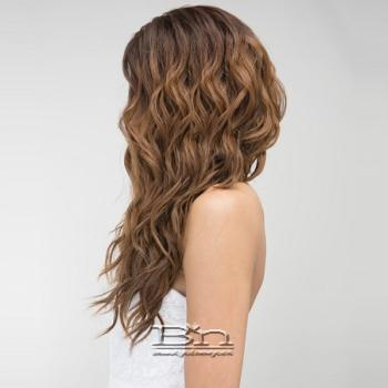 Janet Collection Natural Super Flow Deep Part Lace Wig - MOON