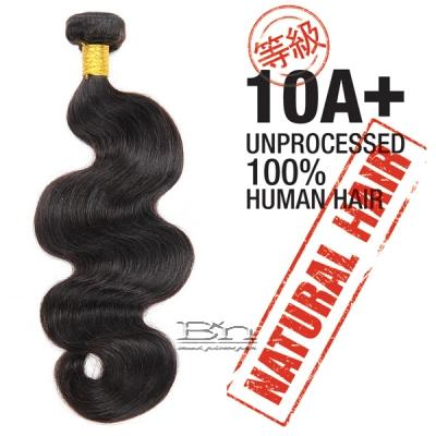 100% Unprocessed Natural Human Hair - 10A+ BODY WAVE 10