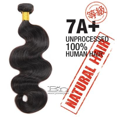 100% Unprocessed Natural Human Hair - 7A+ BODY WAVE 12
