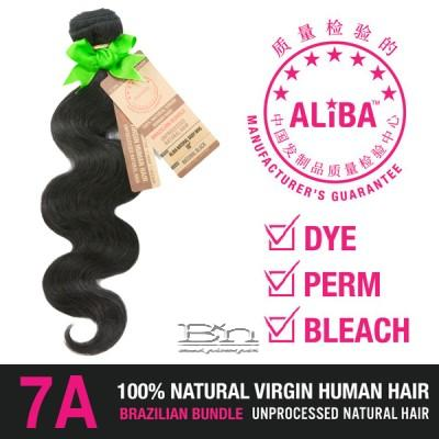 Janet Collection 100% Unprocessed Natural Brazilian Virgin Human Hair - 7A ALIBA NATURAL BODY WAVE 12