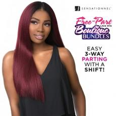 Sensationnel Synthetic Hair Empress 3 Way Free Part Lace Wig - BOUTIQUE BUNDLE KINKY STRAIGHT (futura)