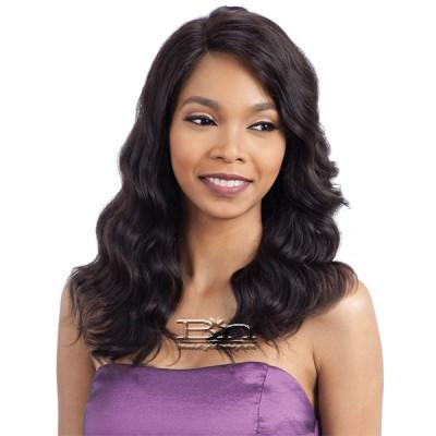 Model Model Nude 100% Unprocessed Brazilian Virgin Remy Human Hair L Part Lace Front Wig - NATURAL LOOSE WAVE
