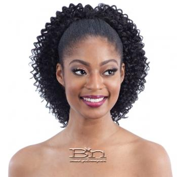 Milky Way Que Human Hair Blend Ponytail - Q WATER GIRL