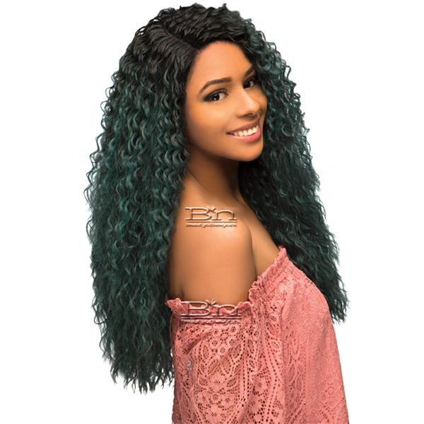 WIGO Collection Synthetic Hair Extreme Side Deep Natural Plucked Lace Front Wig - LACE KANTU (Ear-to-Ear Elastic Band Wig)
