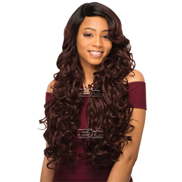 WIGO Collection Synthetic Hair Extreme Side Deep Natural Plucked Lace Front Wig - LACE ENCIA (Ear-to-Ear Elastic Band Wig)