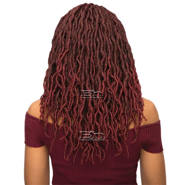 WIGO Collection Synthetic Hair Extreme Side Deep Natural Plucked Lace Front Wig - LACE WAVY FAUX LOC 12 (Ear-to-Ear Elastic Band Wig)
