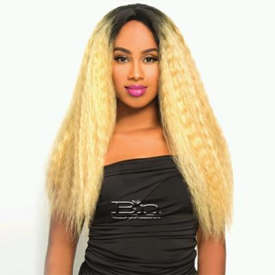 The Wig Brazilian Human Hair Blend Lace Front Wig - LH NATURAL
