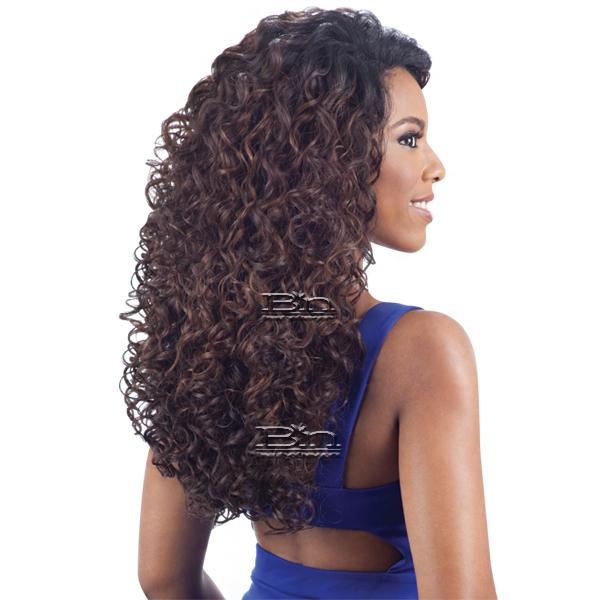 Model Model Synthetic Hair Lace Deep Invisible L Part Lace Front Wig - MAXIMA