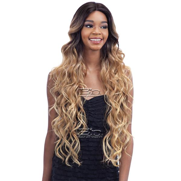 Model Model Synthetic Hair Premium Seven Star V Shaped Lace Front Wig - EV 001