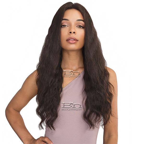 Janet Collection 100% Natural Virgin Remy Human Hair 360 Circular Frontal Lace Wig - 360 LACE FRENCH WAVE WIG 26