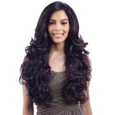 Model Model Synthetic Hair U Curve Lace Front Wig - SIMMON (5 X 4 Parting Versatility)