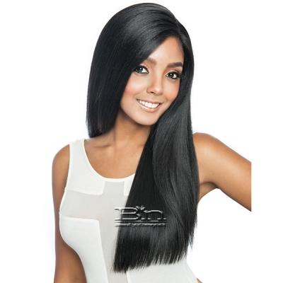 Isis Melanin Queen Human Hair Blend Frontal Lace - MLF01 YAKY STRAIGHT 24 (13x4 free parting)