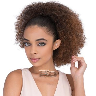 Janet Collection Noir Everytime Synthetic Ponyail - AFRO COILY STRING