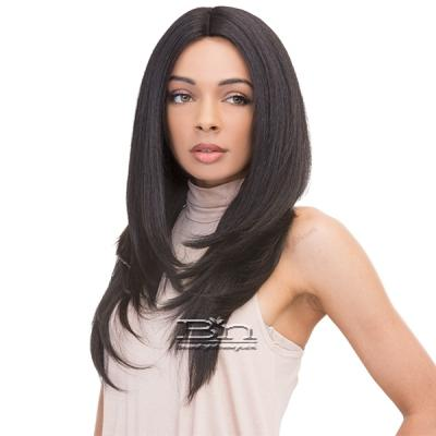 Janet Collection Human Hair Blend Brazilian Scent Pre Tweezed Part Wig - CORAL
