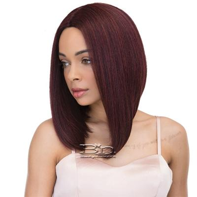 Janet Collection Human Hair Blend Brazilian Scent Pre Tweezed Part Wig - SPINEL