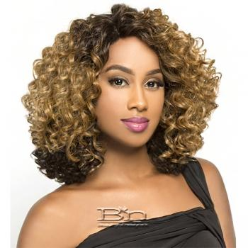 The Wig Brazilian Human Hair Blend Deep Part Lace Front Wig - LH LADY