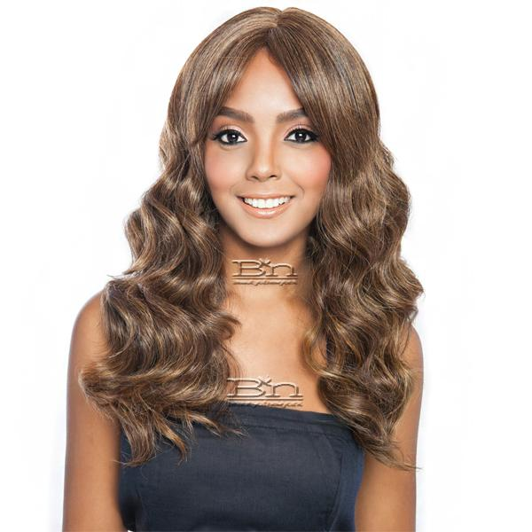 Isis Brown Sugar Human Hair Blend Bang Lace Wig - BSB02 HEART