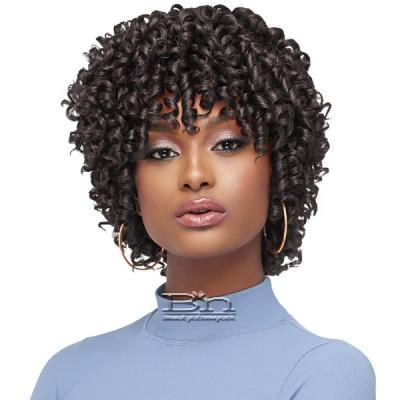 Outre Purple Pack Salon Set Curls Human Hair Blend Weaving -  STRAW SET