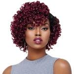 Outre Purple Pack Salon Set Curls Human Hair Blend Weaving - ROD SET