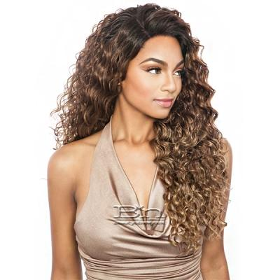 Isis Melanin Queen Human Hair Blend Frontal Lace - MLF06 FRENCH WAVE 24 (13x4 free parting)
