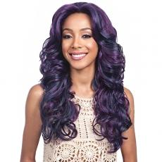 Bobbi Boss Synthetic Swiss Lace Front Wig - MLF199 BLACK PEARL