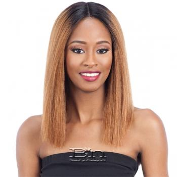 Naked 100% Brazilian Natural Hair Deep Invisible Part Lace Front Wig - BELLONA