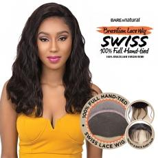 Sensationnel 100% Brazilian Virgin Remi Bare & Natural Full Hand Tied Swiss Lace Wig - BODY WAVE 22
