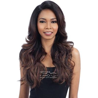 Model Model Synthetic Hair Deep Invisible L Part Wig - JESTIC
