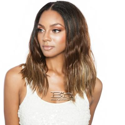 Isis Brown Sugar Human Hair Blend Uniweave V Part Wig - BSUW06 NATURAL WAVE 16